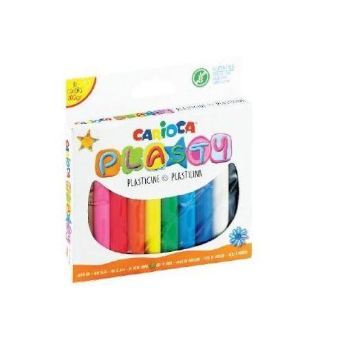 Plastelina, Plastelina 200g 10 kolorów CARIOCA