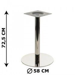 Podstawa stolika NY-B125/58, stal nierdzewna polerowana (stelaż stolika, stołu)