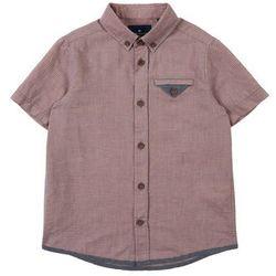 TOM TAILOR Koszula 'shirt checked' jasnobrązowy / szary / pomarańczowy