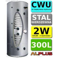 Bojler JOULE CYCLONE 300L 2-wężownice 2W standardowa wysokość, nierdzewka wymiennik podgrzewacz CWU Wysyłka GRATIS