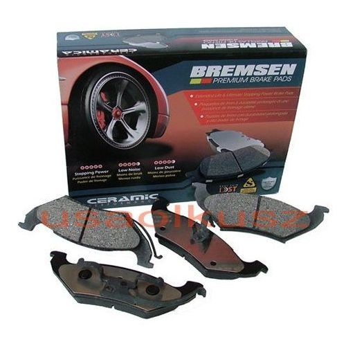 Klocki hamulcowe, Tylne ceramiczne klocki hamulcowe Dodge Caravan 1996-2000 BREMSEN
