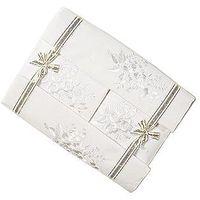 Pościel, Pościel bawełniana haftowana z prześcieradłem 160x200 biała