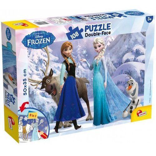 Puzzle, Kraina lodu Puzzle 108 elementów 2 w 1