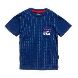 T-shirt chłopięcy z nadrukiem granatowy Denley T3305
