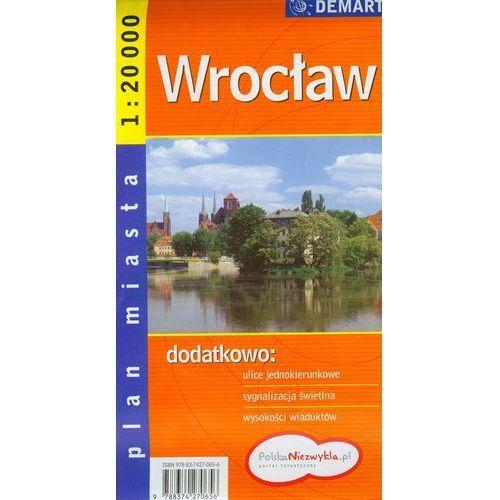 Mapy i atlasy turystyczne, Wrocław. Plan miasta 1:20 000 DEMART (opr. broszurowa)