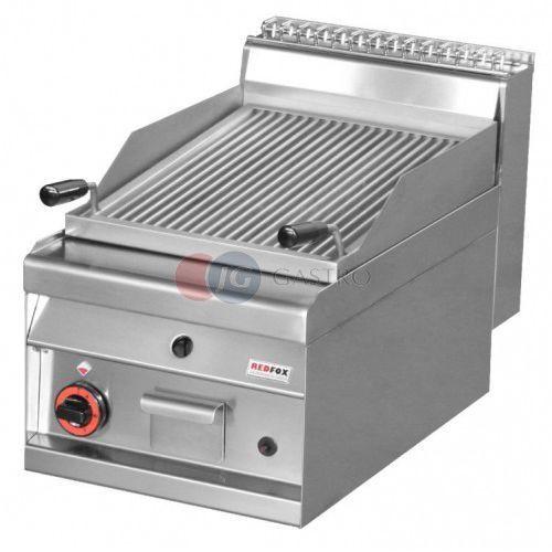 Grille gastronomiczne, Grill gazowy pojedynczy z lawą wulkaniczną 6,5 kW Red Fox linia 700 CW - 4 G