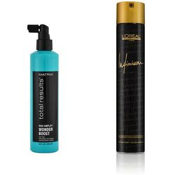 Matrix Total Results and Infinium 4 | Zestaw: płyn odbijający włosy u nasady 250ml + lakier 500ml