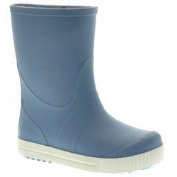 Kalosze dziecięce GoKids Wave Jeans - Biały   Niebieski Jasny