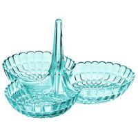 Misy i miski, Guzzini - Tiffany - Miseczka na przekąski potrójna, niebieski - niebieski