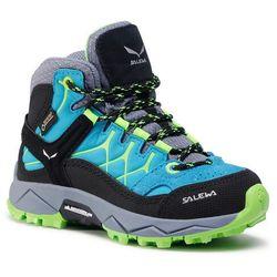 Trekkingi SALEWA - Jr Alp Trainer Mid Gtx GORE-TEX 64006-8375 Blue Danbe/Fluo Green