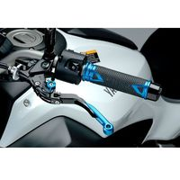 Manetki motocyklowe, Manetki PUIG Hi-Tech Radikal do kierownic 22 mm (niebieskie)