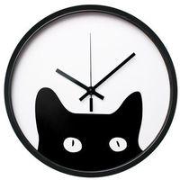 Zegary, Zegar ścienny KITTEN śr. 30 cm czarny