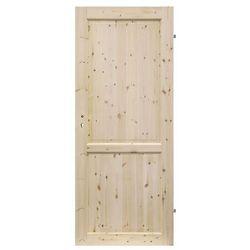 Drzwi pełne Radex Lugano 90 prawe sosna surowa