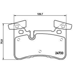 Zestaw klocków hamulcowych, hamulce tarczowe TEXTAR 2473301