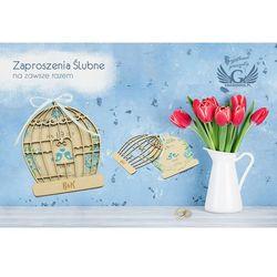 Zaproszenia ślubne z drewna - Na zawsze razem - cyfrowy druk UV - ZAP028