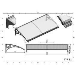 Zadaszenie drzwiowe typ E1 150x95 cm