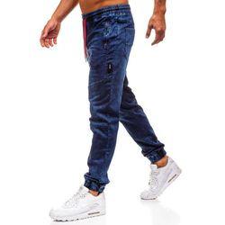 Spodnie jeansowe joggery męskie granatowe Denley Y267