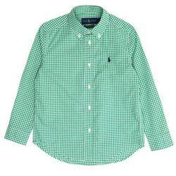POLO RALPH LAUREN Koszula 'NATURAL STRCH POPLN' zielony / biały