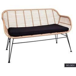 SELSEY Sofa ogrodowa Hesso z technorattanu brązowa