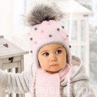 Zestawy dodatków dla dzieci, AJS 38-405 Czapka+szalik komplet