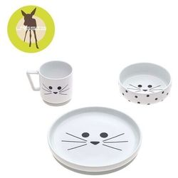 Lassig - Komplet naczyń z porcelany - Little Chums Kot