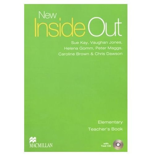 Książki do nauki języka, New inside out elementary Teacher`s book + Cd (opr. miękka)