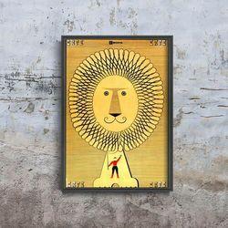 Plakat vintage do salonu Plakat vintage do salonu Radziecki nadruk lwa cyrkowego