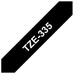 BROTHER Taśmy do drukarek TZ laminowane 12mm x 8m, biały/czarny
