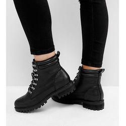 ASOS ABSINTHE Wide Fit Lace Up Ankle Boots - Black