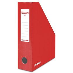Pojemnik na dokumenty DONAU, karton, A4/80mm, lakierowany, czerwony