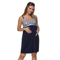 Koszula ciążowa lupoline 3129 k rozmiar: 2xl, kolor: granatowy, lupo
