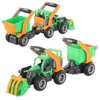 """Traktory dla dzieci, """"GripTrucks"""", traktor-ładowarka z naczepą (w siatce)"""