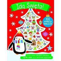 Książki dla dzieci, 100 wypukłych naklejek - Idą Święta