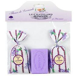 Zestaw 2 woreczki 18g + mydło lawenda 100g Le Chatelard
