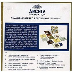 Archiv Produktion Analogue Stereo Recordings 1959-1981