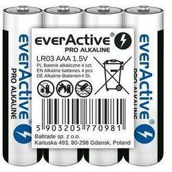 Baterie paluszki AAA LR03 everActive Pro Alkaline 4 sztuki alkaliczne
