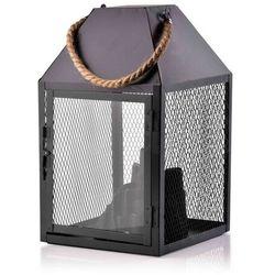 KANVAR Lampion KOMINEK LED 17,5x17,5xh30cm black