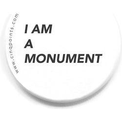 Przypinka biała Badge I am a Monument
