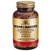 Witaminy i minerały, SOLGAR Wapń i Magnez w postaci cytrynianu 100 Kapsułek