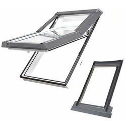 Okno dachowe DOBROPLAST Skylight Premium 78x98 białe + kołnierz falisty zestaw