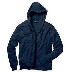 Bluza rozpinana z kapturem Regular Fit bonprix ciemnoniebieski