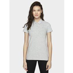 Koszulka polo damska TSD013A - chłodny jasny szary melanż