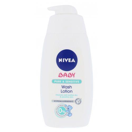 Pozostałe kosmetyki dla dzieci, Nivea Baby Pure & Sensitive Wash Lotion żel oczyszczający 500 ml dla dzieci