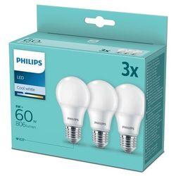 Żarówka LED Philips A60 E27 806 lm 4000 K 3 szt.