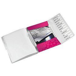 Teczka segregująca Leitz WOW 12 przekładek metaliczna różowa 46340023