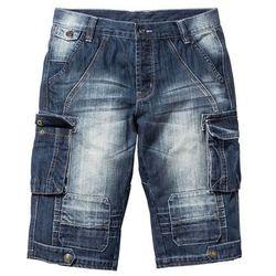 Długie bermudy dżinsowe Regular Fit bonprix ciemnoniebieski