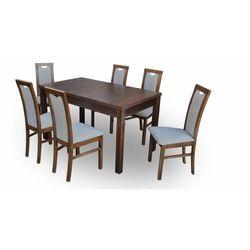 """Zestaw """"DIVA"""" stół + 6 krzeseł - antracit"""