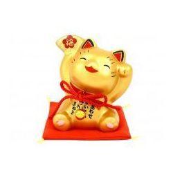 Figurka Maneki Neko - Złoty wachlarz