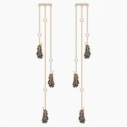 Kolczyki sztyftowe typu kandelabr Naughty, czarne, w odcieniu różowego złota