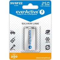Akumulatorki, everActive 6F22/9V Ni-MH 250 mAh ready to use